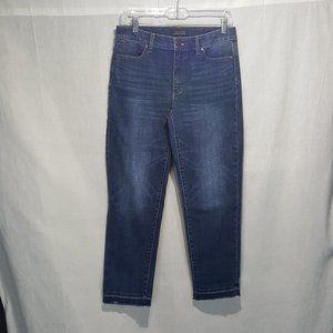 Talbots Flawless 5 Pocket Crop Raw Skinny Jeans *6